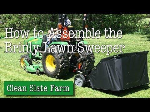 Assembling the Brinly STS 742LHX Lawn Sweeper