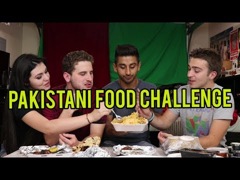 EATING PAKISTANI FOOD FOR THE FIRST TIME ft. REACT CAST
