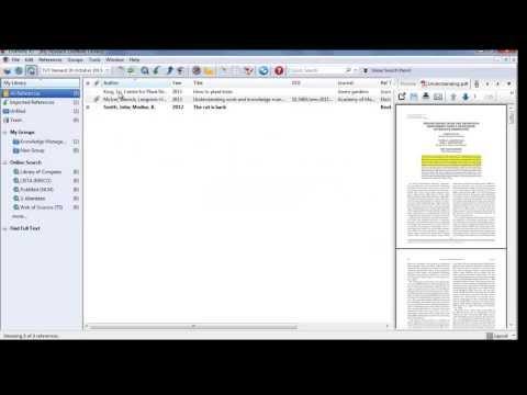 TUT - Endnote x7 - Part 4: Adding citations to a document