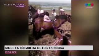 Continúa la búsqueda de Luis Espinoza, que desapareció el viernes