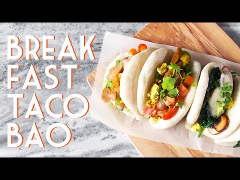 BREAKFAST TACO BAO • Vegan Brinner Collab
