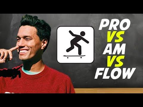 THE 4 LEVELS OF SKATEBOARD SPONSORSHIP!!  *flow vs am vs pro*