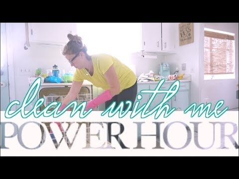 Clean With Me | Power Hour Speed Cleaning | steffiethischapter