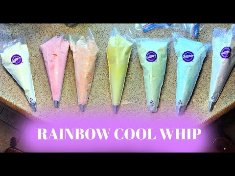 UNICORN COOL WHIP IDEA - How to Make RAINBOW Cool Whip