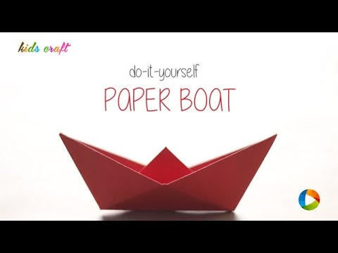 How to: Classic Paper Boat - Kids Craft