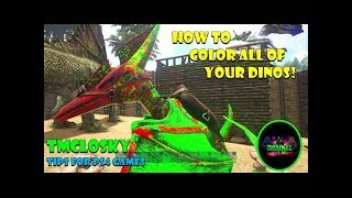 Ark Survival Evolved: How to Paint/Color dinos on Xbox One ( Admin