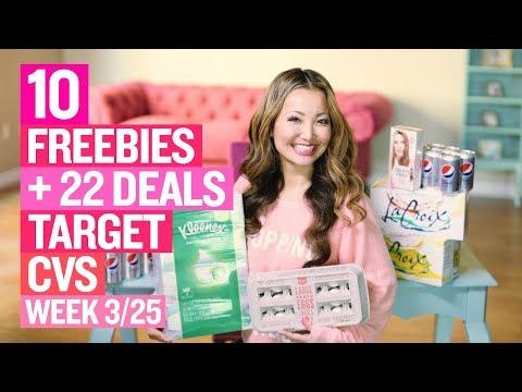★ 10 FREEBIES - Target & CVS Coupon DEALS (Week 3/25-3/31)