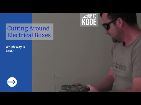 How to cut around electrical boxes