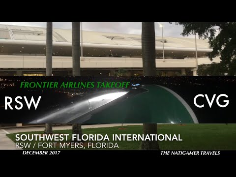 Frontier Airlines Takeoff | RSW / Fort Myers, Florida - CVG | A320neo N303FR | Poppy the Prairie Dog