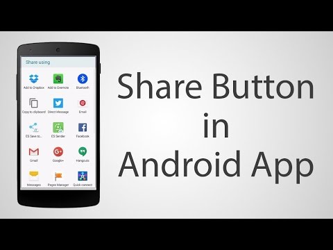 How to make a Share Button in Android App Android Studio 2.2