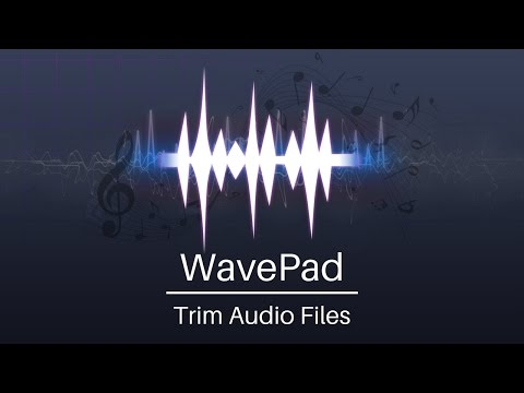 WavePad Audio Editor Tutorial | Trim Audio Files
