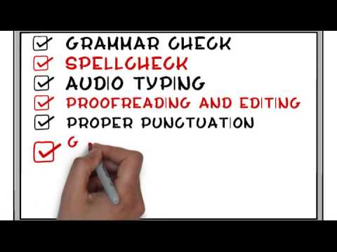 [ Spell Checker ] [ Audio Typing ] [ Grammar and Punctuation ] Solve your problems today!