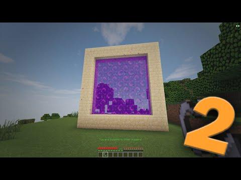 Minecraft - How to make a Portal to REAL LIFE 2!! (No mods)