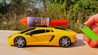 EXPERIMENT XXL ROCKETS WITH TOY CAR LAMBORGHINI