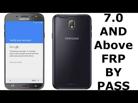 Bypass Google Account Verification SAMSUNG ,J7,S7,S8,c9 and other Android 7.0 phones