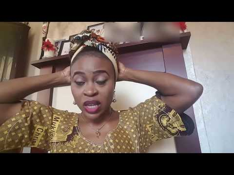 How to tie African print head scarf