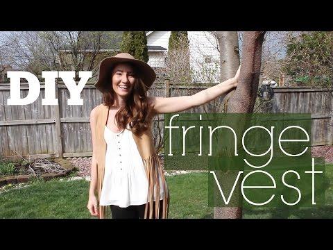 DIY - Faux Suede Fringe Vest