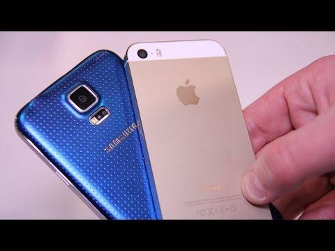 Galaxy S5 vs iPhone 5s - Comparison