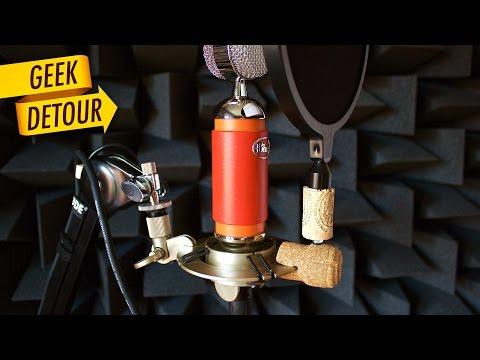DIY Pop Filter Cork Mount for Blue Spark and Blue Yeti