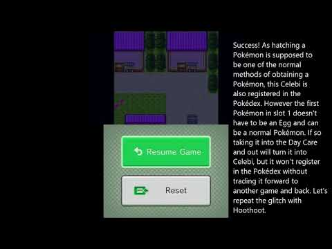 How to get Celebi in English Virtual Console Pokémon Gold/Silver (simplified method)