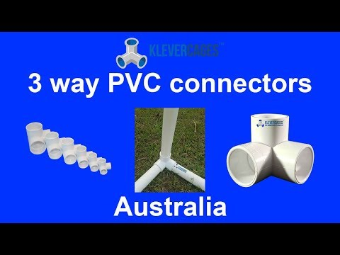 3 Way PVC Connector video - Klever Cages