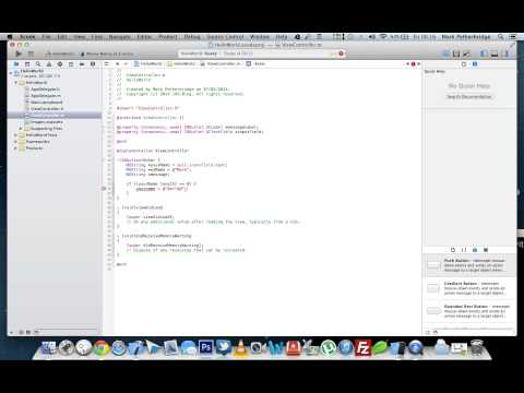 How to create your first iOS 7 Hello World Application - Xcode 5