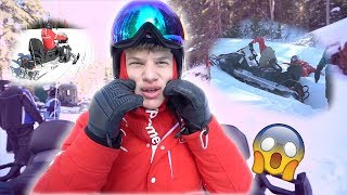 Insane SnowMobile Racing With Team 10