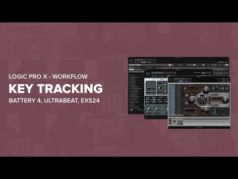 How To Key Track Samples In Battery 4, Ultrabeat, EXS24 | Logic Pro X Tutorial