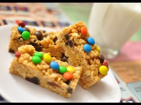 How to make No-Bake Trail Mix and Cereal Bars