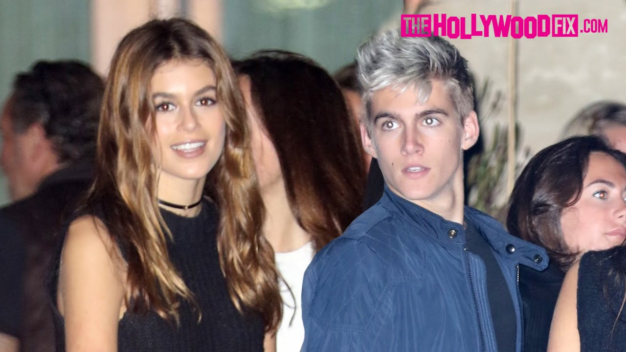 Kaia Gerber & Her Brother Presley Have Dinner Together At Soho House In Malibu 5.26.16