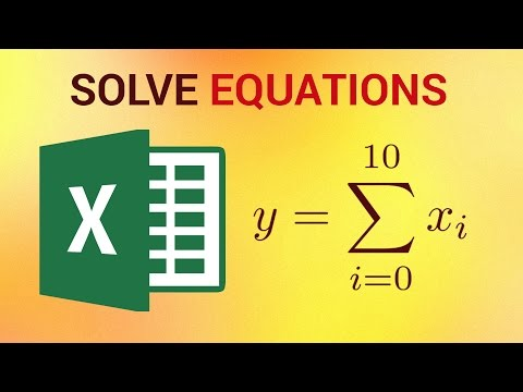 How to Solve Equations in Excel 2016