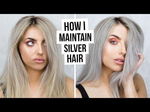 HOW I MAINTAIN SILVER HAIR TUTORIAL I COCOCHIC I ad