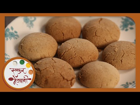 Eggless Nankhatai   Recipe by Archana   Indian Sweet Cookies / Homemade Biscuits in Marathi