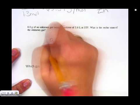 Honors Chemistry Video 5.11 Molar Mass of an Unknown Substance