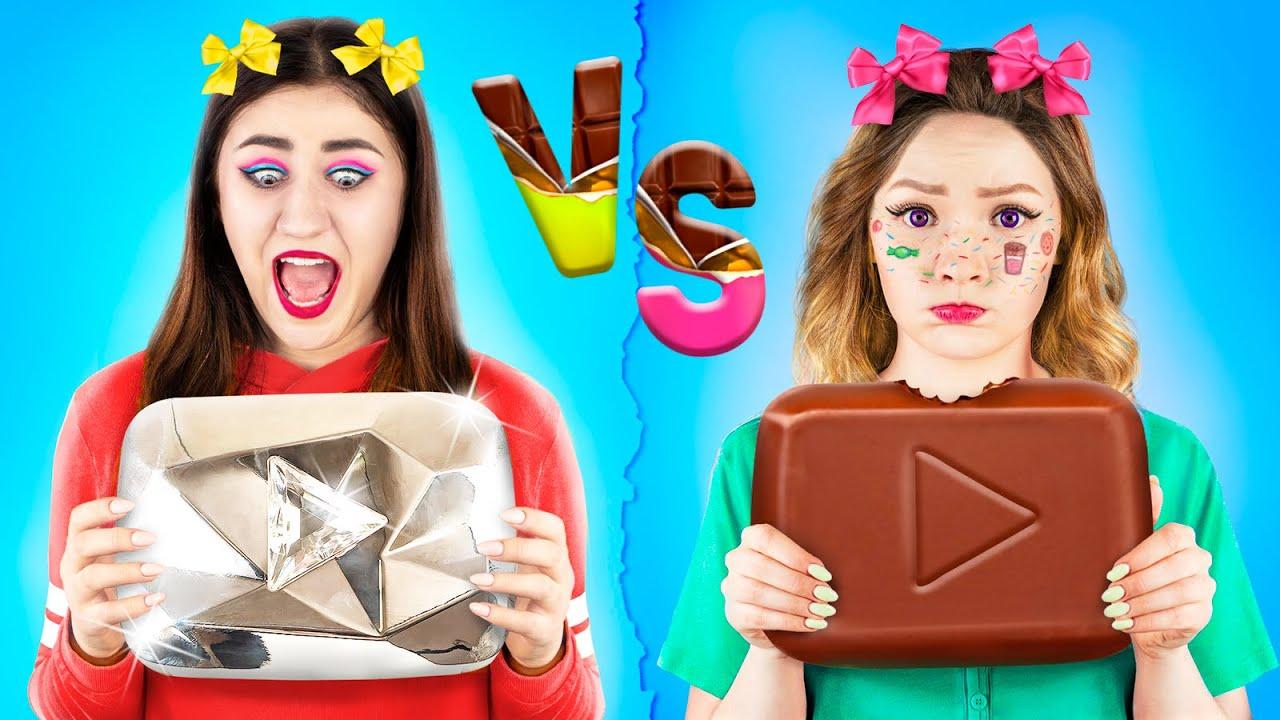 Chocolate Food vs Real Food Challenge