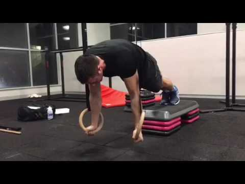 Straight arm strength on gymnastic rings