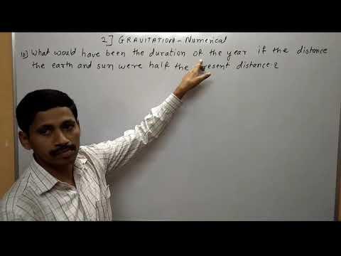 Gravitation Numerical Class 12 Part 3 Maharashtra Board Physics in hindi