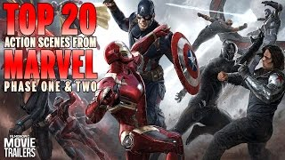 Download Marvel Movies Phase 1 and 2 | Top 20 Action Scenes Video