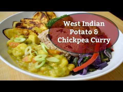West Indian Potato & Chickpea Curry|Solo Budget-Vegan