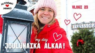 VALMISTAUDUTAAN JOULUUN SODANKYLÄSSÄ  🎅🏼 MY DAY! #vaihtovuosisodankylässä vlogi 23 english sub.