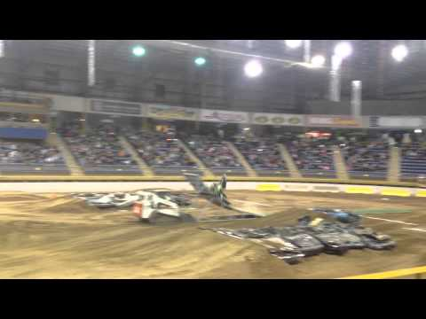 Heath Frisby Failed Snowmobile Backflip Attempt Crash Indoors On Dirt in Denver