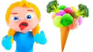 Download DO YOU LIKE BROCOLI WITH ICE CREAM ❤ PLAY DOH CARTOONS FOR KIDS Video