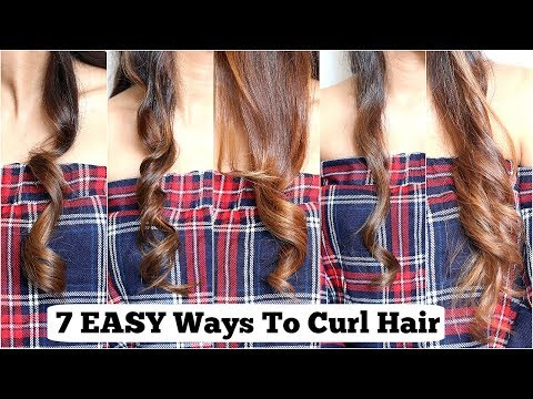 7 ELEGANT Ways To Curl YOUR Hair With Straightener/ Flat Iron- EASY Curls For Medium To Long Hair
