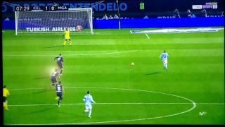 Celta de Vigo vs Málaga, 1-0 Gol de Iago Aspas