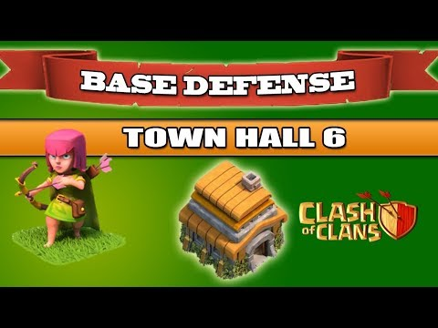 Clash Of Clans - TownHall 6 Hybrid Best Defence Base / War Base 2018 [ ANTI 3 STARS !!! ]
