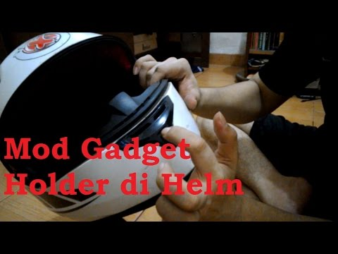 #6 Tutorial Mod Gadget Holder di Helm | #MotoVlog Indonesia