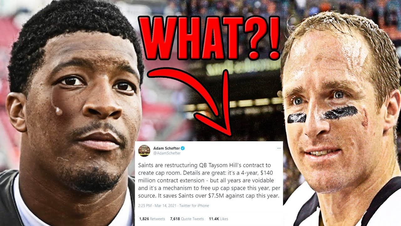 DREW BREES RETIRES! TAYSOM HILL GETS 140M CONTRACT! WHAT ABOUT JAMEIS WINSTON? SAINTS QB DRAMA!