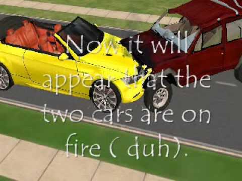 How to create Sims 2 Car Crash