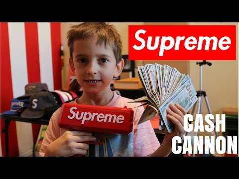 $5,000 IN A SUPREME CASH CANNON (MONEY GUN BALLIN)