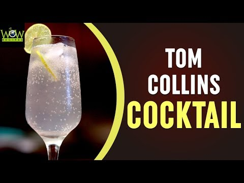 Tom Collins Cocktail Recipe | How to Make Tom Collins Cocktail? | Online Kitchen | Wow Recipes